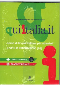 Qui Italia it livello intermedio B2 Podręcznik+DVD+CD MP3