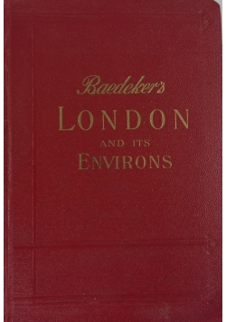 Baedeker's London and its Environs, 1930 r.