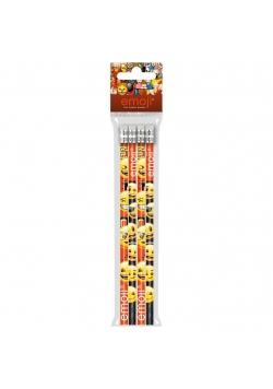 Ołówek z gumką 4szt Emoji 10 DERFORM
