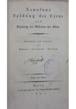 Xenophons Feldzug des Cyrus und Rückzug der Hellenen aus Asien, 1802 r.