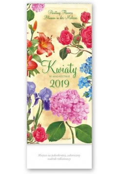 Kalendarz 2019 Trójdzielny wiel. Kwiaty w... TW3