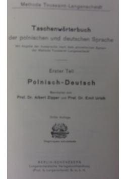 Taschenworterbuch der polnischen und deutschen Sprache, 1920 r.