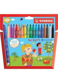 Flamastry Trio Frutti 18 kolorów STABILO