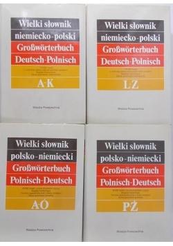 Wielki słownik polsko – niemiecki, zestaw 4 tomów