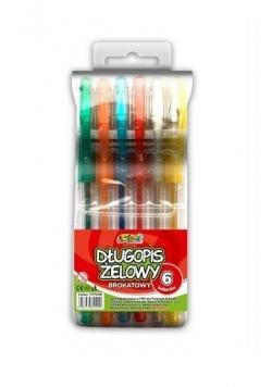 Długopis żelowy Kolori brokatowy 6 kol. PENMATE