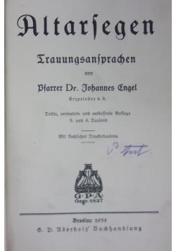 Altarfegen 1935 r.