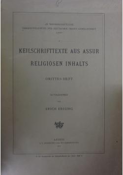 Keilschrifttexte aus Assur Religiosen Inhalts, 1917r.