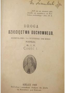 Droga dziecięctwa duchowego, 1923 r.