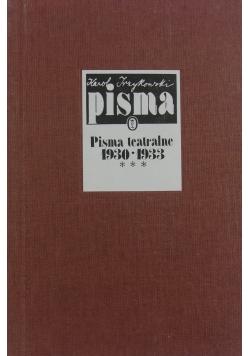 Pisma teatralne 1930-1933