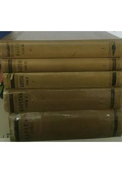 Kapitał, teorie wartości dodatkowej, 5 książek