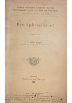 Der Epheserbrief,1902r.