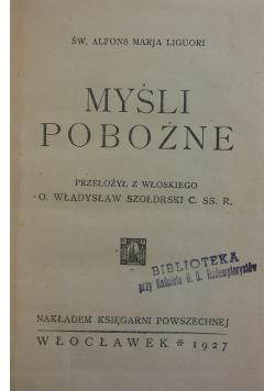 Myśli pobożne, 1927r.