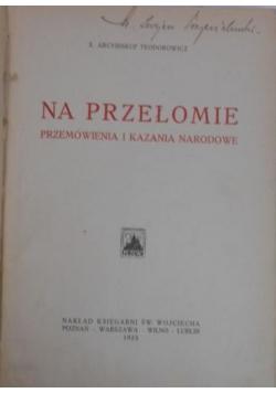 Na przełomie. Przemówienia i kazania narodowe, 1923 r.
