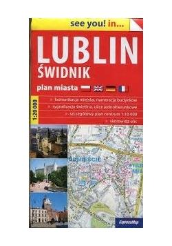 Lublin Świdnik plan miasta 1:20 000