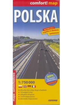 Comfort! map Polska 1:750 000 mapa wyd.2018