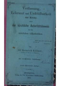 Verfassung, Lehramt und Unfehlbarkeit der Kirche, 1874 r.
