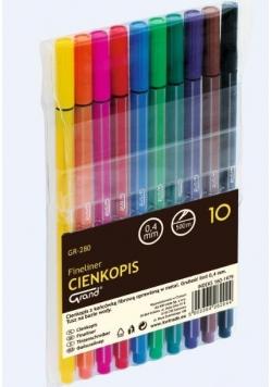 Cienkopis GR-280 10 kolorów GRAND