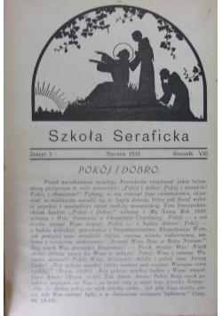 Szkoła seraficka, roczniki,  nr 1-12, 1933 r.