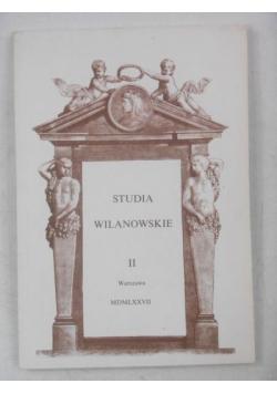 Studia Wilanowskie, Tom II