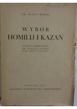 Wybór homilii i kazań, 1947 r.