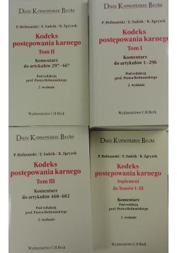 Kodeks postępowania karnego Tom I,II,III/Suplement do tomów I-III