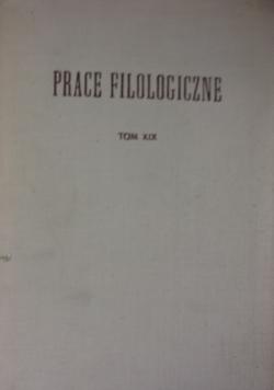 Prace filozoficzne, tom XIX