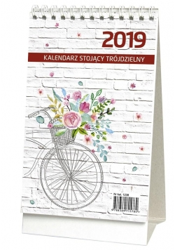 Kalendarz 2019 Biurkowy Stojący Trójdzielny