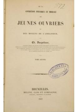 De la condition physique et morale, 1843 r.