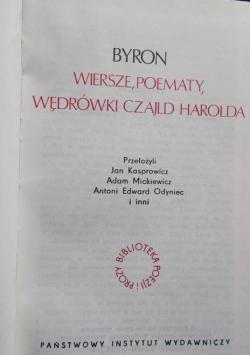 Wiersze , Poematy,Wędrówki Czajld Harolda