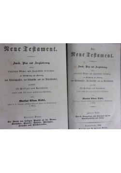 Das Kene Testament tom II-III, 1846 r.