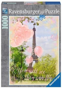 Puzzle Balony pod Wieżą Eiffla 1000