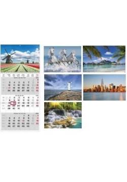 Kalendarz 2019 Trzymiesięczny MIX HELMA