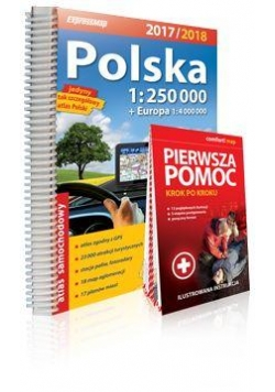 Polska 2017/2018 atlas sam. 1:250 000 + Pierwsza..