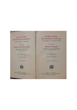 Langenscheidta słownik kieszonkowy języków niemiecko-polski, cz. II 1931