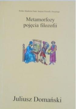 Metamorfozy pojęcia filozofii