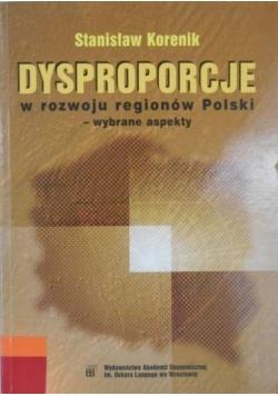 Dysproporcje w rozwoju regionów Polski