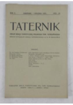 Taternik rok X, 1925 r.