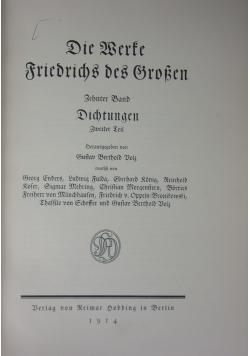 Die Werte Friedrichs des Brosen,1914r.