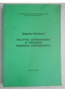 Polityka zatrudnienia w procesie przemian systemowych