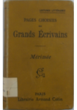 Pages Choises des Grands Ecrivains,1906r.