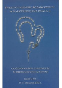 Światło tajemnic różańcowych w nauczaniu Jana Pawła II