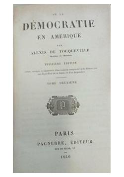 De La democratie en Amerique, 1850 r.