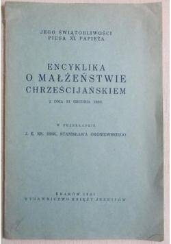 Encyklika o małżeństwie chrześcijańskiem, 1931 r.