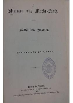 Stimmen aus Maria-Laach katholische Blätter, 1903 r.
