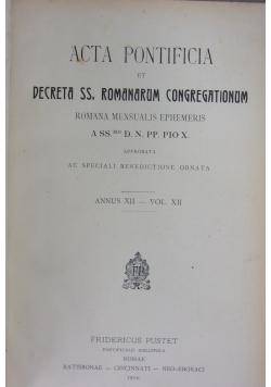 Acta Pontificia ,1914r.