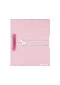 Segregator A4 2,5cm trans.pastel różowy
