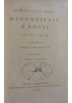 Wspomnienia z Rosji 1916-1919, 1925r.