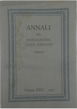 Annali della fondazione luigi einaudi, Volume XXIV