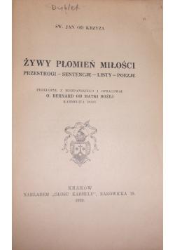 Dzieła św. Jana od Krzyża, 1939 r.