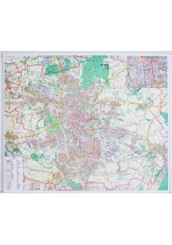 Łódź. Mapa ścienna 1:20 000
